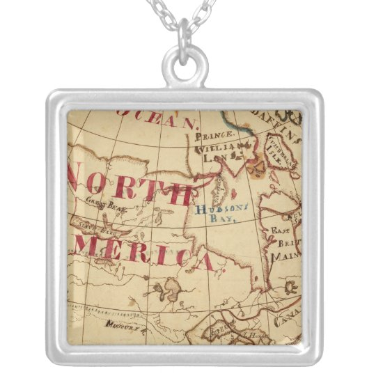 North America 8 Silver Plated Necklace