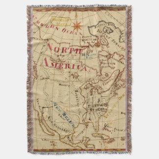 North America 8 Throw Blanket