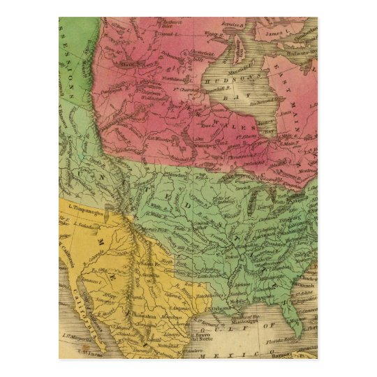 North America 9 Postcard