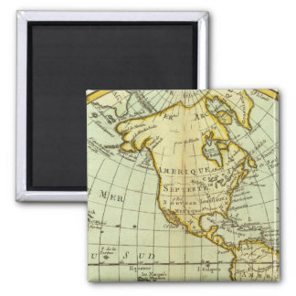 North America and South America Fridge Magnets