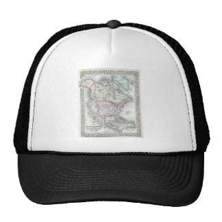 North America and the United States Antique Map Hat