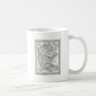 North America and the United States Antique Map Coffee Mug