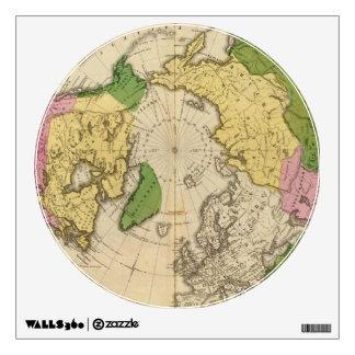 North America, Asia Wall Sticker
