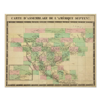 North America Assembly Map Poster