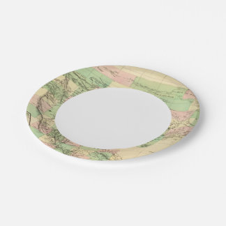 North America Assembly Map 7 Inch Paper Plate