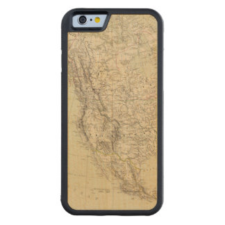 North America Atlas Map showing Indian tribes Maple iPhone 6 Bumper Case