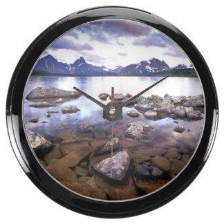 North America, Canada, Alberta, Jasper National Aquavista Clocks