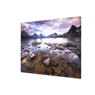 North America, Canada, Alberta, Jasper National Canvas Print