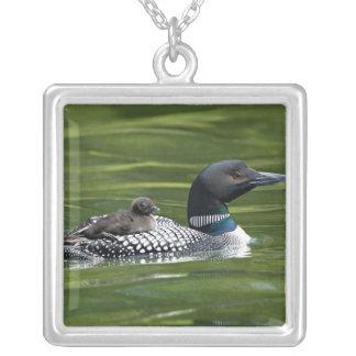 North America, Canada, British Columbia, Lac Le Square Pendant Necklace