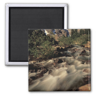 North America, Canada, Canadian Rockies, Banff 2 Inch Square Magnet