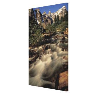 North America, Canada, Canadian Rockies, Banff Canvas Print