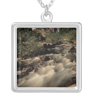 North America, Canada, Canadian Rockies, Banff Silver Plated Necklace