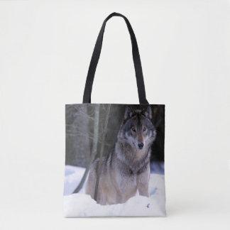 North America, Canada, Eastern Canada, Grey wolf Tote Bag