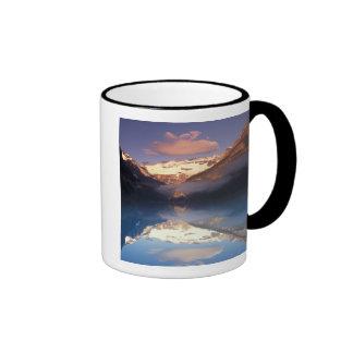 North America, Canada, Lake Louise morning Ringer Coffee Mug