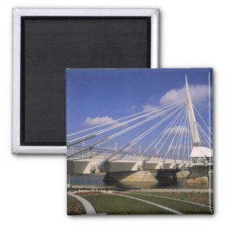 North America, Canada, Manitoba, Winnipeg, 2 Inch Square Magnet