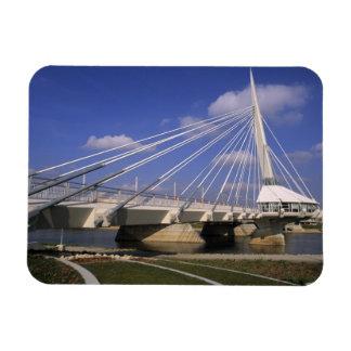 North America, Canada, Manitoba, Winnipeg, Rectangular Photo Magnet