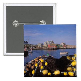 North America, Canada, Nova Scotia, Peggy's 2 Inch Square Button