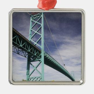 North America, CANADA, Ontario, Windsor: The Square Metal Christmas Ornament