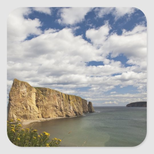 North America, Canada, Quebec, Gaspe Bay, Perce Square Sticker