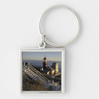 North America, Canada, Quebec, Gaspe Peninsula 2 Silver-Colored Square Keychain