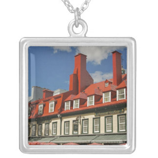 North America, Canada, Quebec, Old Quebec City. 3 Silver Plated Necklace