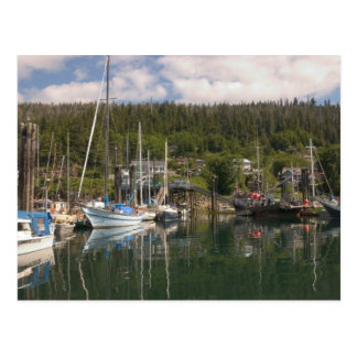 North America, Canada, Queen Charlotte Islands, 4 Postcard