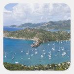 North America, Caribbean, Antigua. English Square Stickers