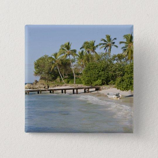 North America, Caribbean, Dominican Republic. Button