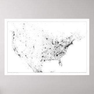 North America Census Dotmap Poster