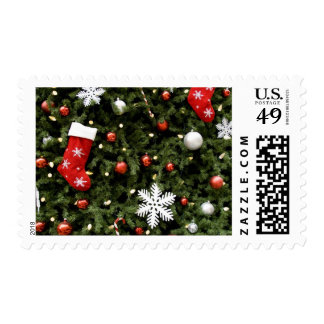 North America. Christmas decorations on tree. 2 Stamps
