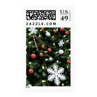North America. Christmas decorations on tree. 4 Stamps