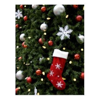 North America. Christmas decorations on tree. 5 Postcard