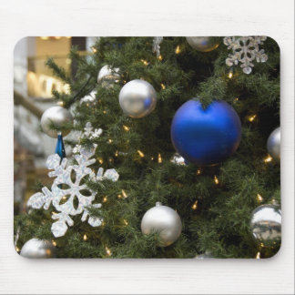 North America. Christmas decorations on tree. Mouse Pad