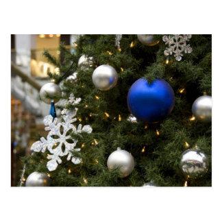 North America. Christmas decorations on tree. Postcard