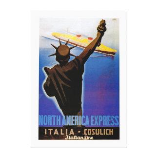 North America Express ~ Italian Line - XL Canvas Print