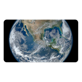 North America from low orbiting satellite Business Card