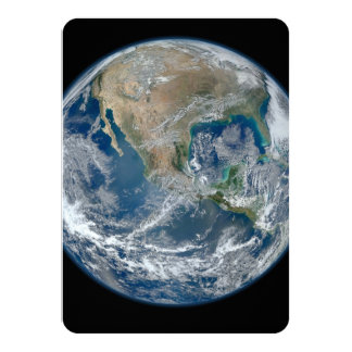 North America from low orbiting satellite Card