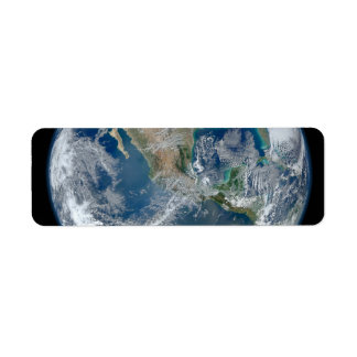 North America from low orbiting satellite Custom Return Address Labels
