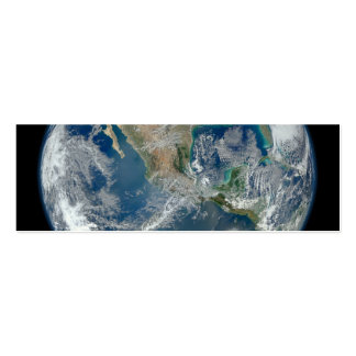 North America from low orbiting satellite Mini Business Card