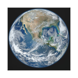 North America from low orbiting satellite SuomiNPP Canvas Print