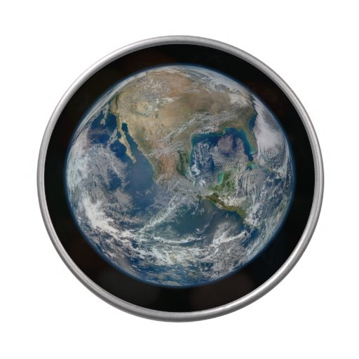 North America from Space Jelly Belly Tin