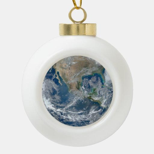 North America from Space Ornaments