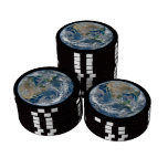 North America from Space Poker Chips