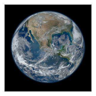 North America from Space Poster