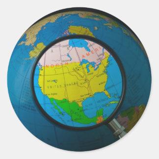 North America in focus Classic Round Sticker