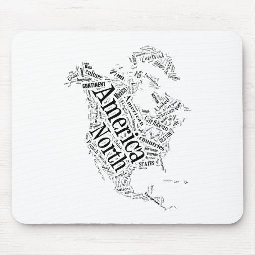 North America in Tagxedo Mousepads