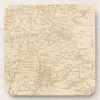 North America Map 1775 - War Survey Beverage Coaster