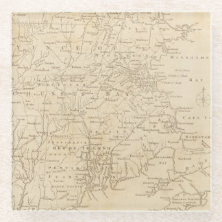 North America Map 1775 - War Survey Glass Coaster