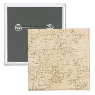 North America Map 1775 - War Survey Pinback Button