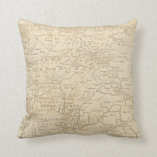 North America Map 1775 - War Survey Throw Pillow